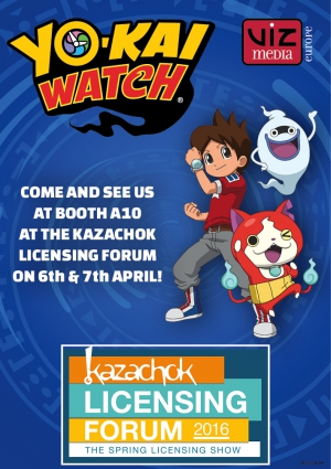 VIZ Media Europe will present YO-KAI WATCH at the Kazachok Licensing Forum